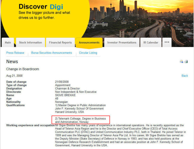 <p>Faksimile fra styrelederannonsering i Digi i 2008.<br/></p>