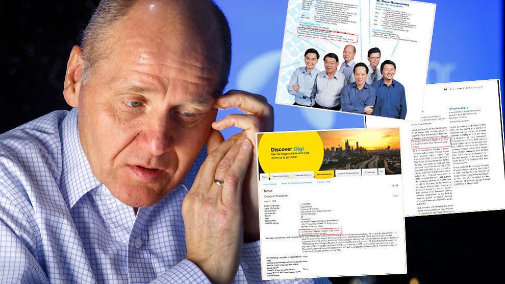 <p><b>FEIL, FEIL, FEIL:</b> Det har flere ganger blitt gitt uriktige opplysninger om Telenor-sjef Sigve Brekkes utdannelse.<br/></p>