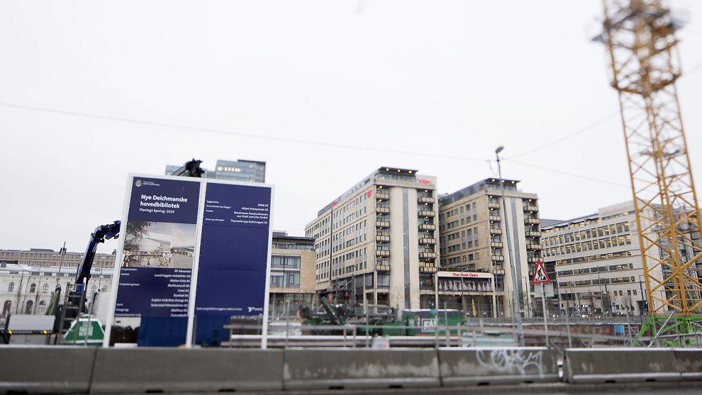 <p><b>FORTSETTER:</b> Byrådet i Oslo vil fortsette byggingen av nye Deichmanske hovedbibliotek.</p>
