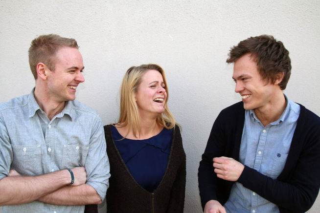 <p><b>GRÜNDERE:</b> Tobias Linkjendal, Hanna Agersborg Aanjesen og Juul Arthur Ribe Rudihagen står bak Magination.</p>