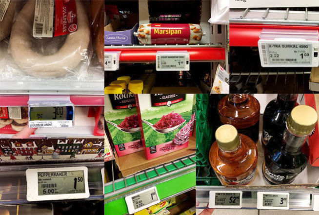 <p><b>NESTEN GRATIS:</b> Bildene er tatt på Rema 1000 denne uken. Sjekk prisene! Pepperkake til 1,50 kroner, julepølser til 3 kroner, rødkål til en krone og gløgg til tre kroner.<br/></p>