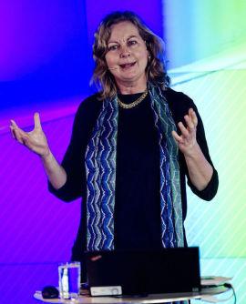 <p><b>VILLE HA JOBBEN:</b> Berit Svendsen, her fra et foredrag på Fornebu 12. mars i år.</p>