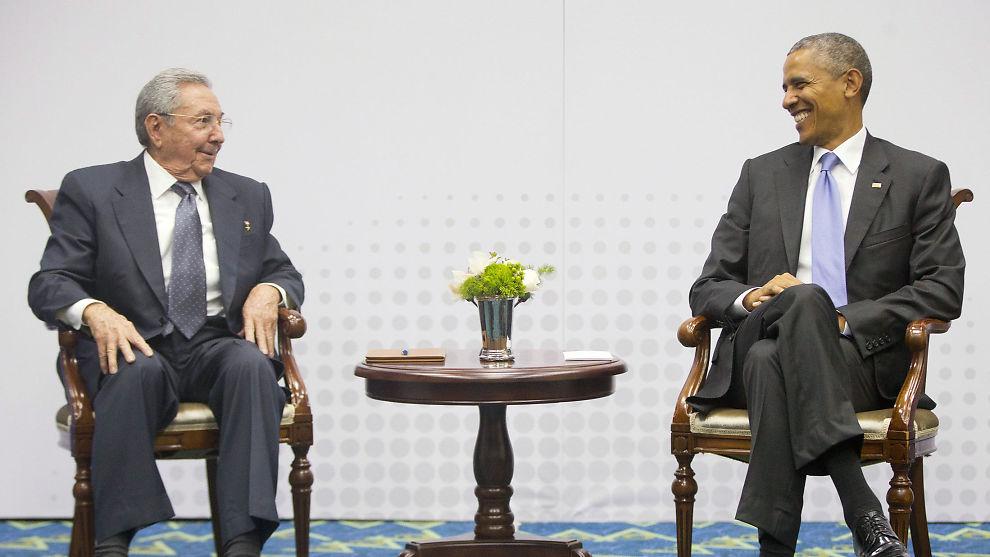 <p><b>ÅPNE LINJER:</b> USAs president Barack Obama og Cubas president Raul Castor begravde i år stridsøksen mellom landene, og åpnet opp for handel.<br/></p>