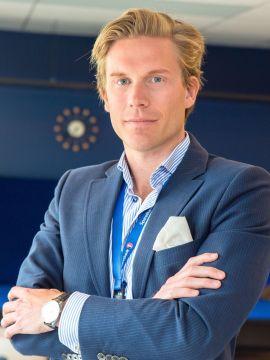 <p>Christoffer Hernæs, direktør for strategi, innovasjon og analyse i Sparebank 1 Gruppen.</p>