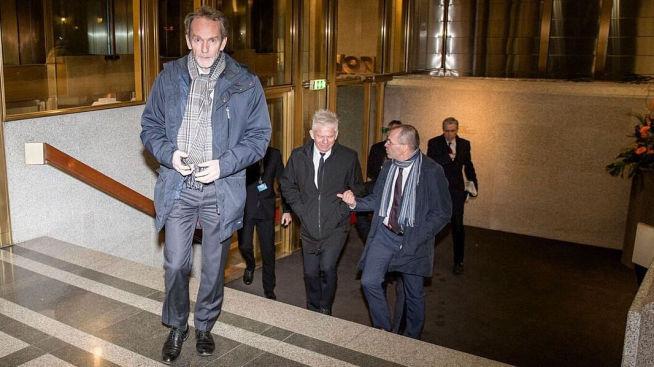 <p><b>ØKONOMER OPP TRAPPEN:</b> Harald Magnus Andreassen, med Kalle Moene rett bak.</p>