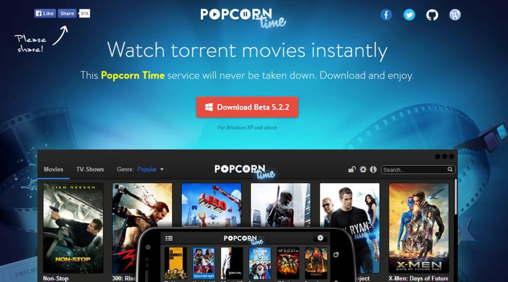 <p><b>ULOVLIG:</b> Popcorn Time minner om populære strømmetjenester som Netflix. Men Popcorn Time verken betaler rettighetshaverne eller har fått tillatelse til å vise innholdet.</p>