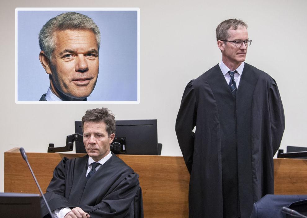 <p>Ankesaken mot Hexagons direktør Ola Rollén (innfelt) gikk i Borgarting lagmannsrett gjennom mai i år. På bildet advokat Christian Fredrik Bonnevie Hjort og advokat Knut Bergo (t.h.).</p>