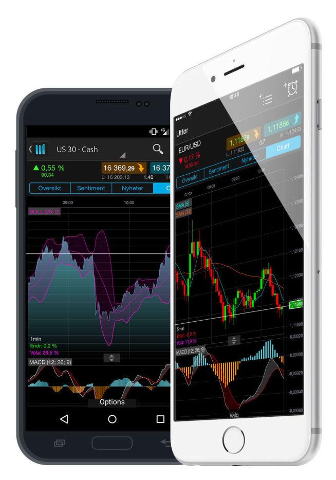<p>MOBIL HANDEL: En god handelsplattform på mobilen lar deg følge med på markedet, få varsler fortløpende og gjøre endringer i porteføljen når det trengs.</p>