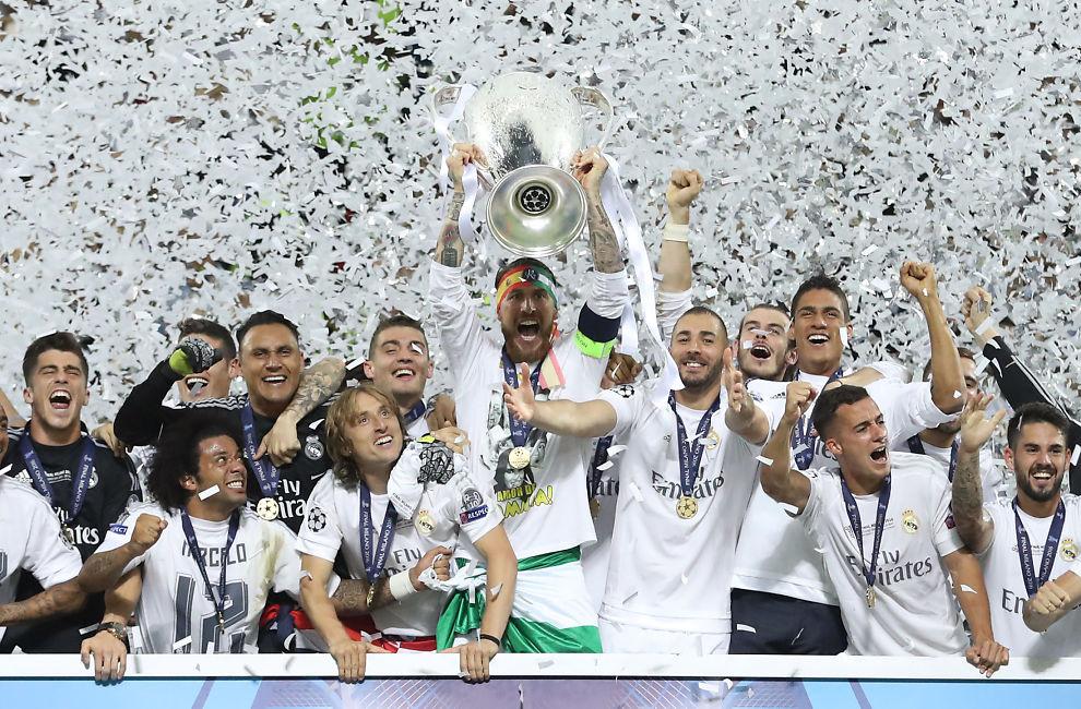 <p><b>BEST I DET MESTE:</b> Her har Real Madrid akkurat slått byrival Atletico Madrid i årets Champions League-finale. Foto: REUTERS</p>