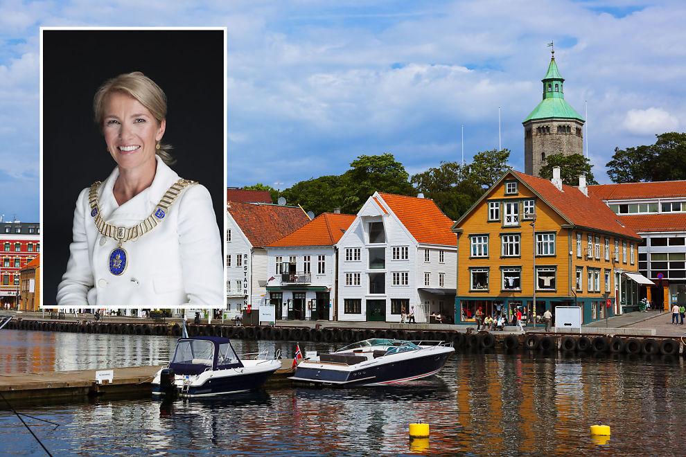 <p>Stavanger-ordfører Christine Sagen Helgø forteller at Stavanger har et veldig godt grunnlag for å ta en posisjon når det kommer til «smarte byer». Foto: CHRISTIAN KVERNELAND / SHUTTERSTOCK</p>