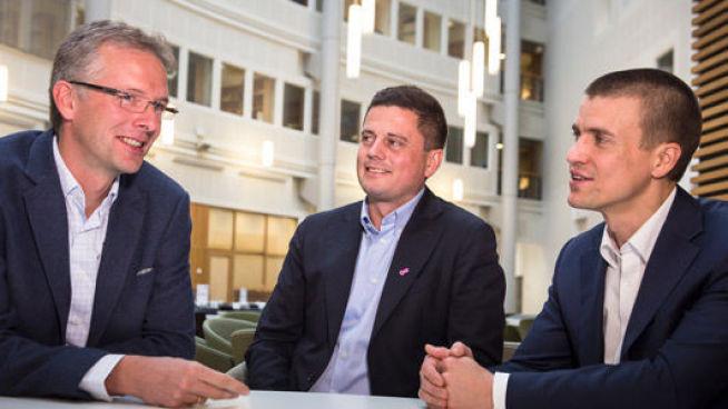 <p><i>Fra venstre: IT-sjef i Norconsult, Geir Hellum, Key Account Manager i Telia, Tom Tønnessen og salgssjef i Telia Bedrift Ryen, Tore Kvernmo. Foto: Telia.</i></p>