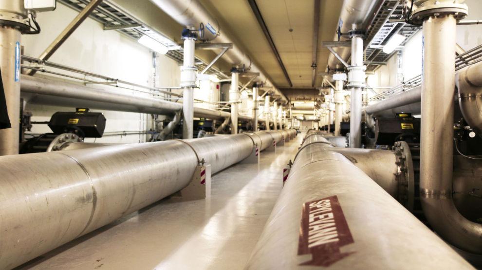 VANNRØR: De fleste steder i Norge er vannlekkasjer vanskeligere å oppdage enn her. Foto: Powel