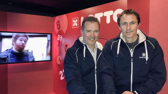 <p>EFFEKTIVISERER DRIFTEN: Jørn Berg Nordlund (t.v.) og Arve Sjølstad i Norsk Tipping. FOTO: NORSK TIPPING</p>