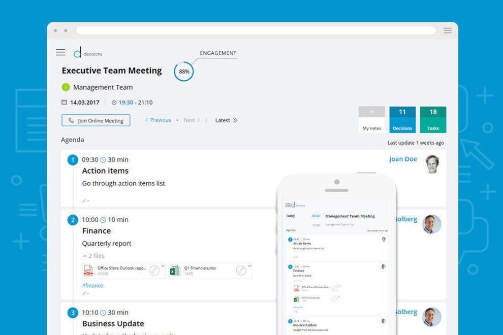 <p>Decisions TM er en app for kalenderen i Microsoft Office 365, som gjør det enklere å forberede møter, treffe beslutninger og følge opp i etterkant</p>