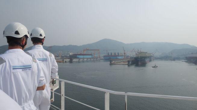 <p/> <p>KJELEDRESSER: DNV GLs kjeledresser og logo er kjent over hele verden, og er et fast innslag i miljøet i store havner og verft.</p>