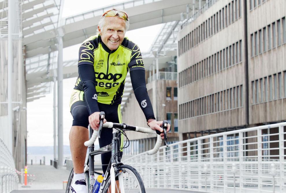 <p>Gjennom langsiktig og smart sparing i SKAGEN fondene lever sykkelentusiast og pensjonssparer Roger Terje Larsson det gode liv i dag.</p> <p>Foto: Elisabeth Sperre Alnes</p>